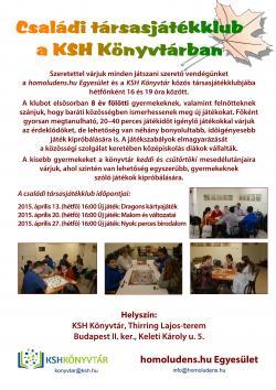 Társasjátékklub a KSH Könyvtárban, 2015. április 13