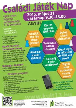 Családi Játék NAP 2015 plakát