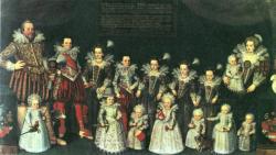 Erich, August (1620-1644): Moritz, hesseni tartománygróf családjával