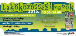 Lakóközösségi napok - Vizafogó sétány - 2015