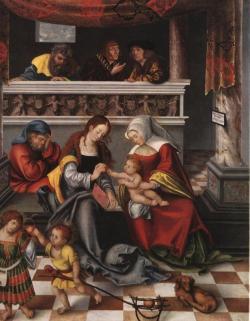 id. Lucas Cranach: A szent család (részlet)