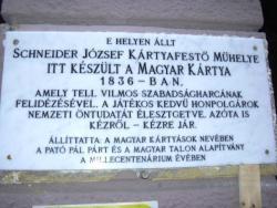 Schneider József emléktábla