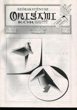 Szórakaténusz Origami Kör 1992/2 magazinja