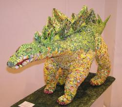 Csak egy kis hajtogatás? Évekig készült a hatalmas origami mű Hódmezővásárhelyen.