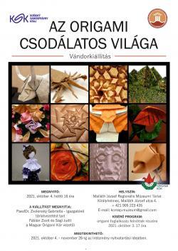 Az origami csodálatos világa vándorkiállítás - Királyhelmec