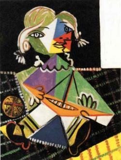 Picasso, Pablo (1881-1976):  Maya hajóval 1938