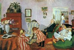 Rippl-Rónai József:  Piacsek bácsi babákkal (1905)