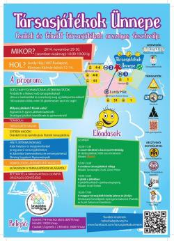 Társasjátékok Ünnepe 2014 plakát