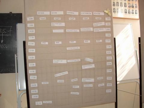Programtervezet a szekszárdi origami tábor elején