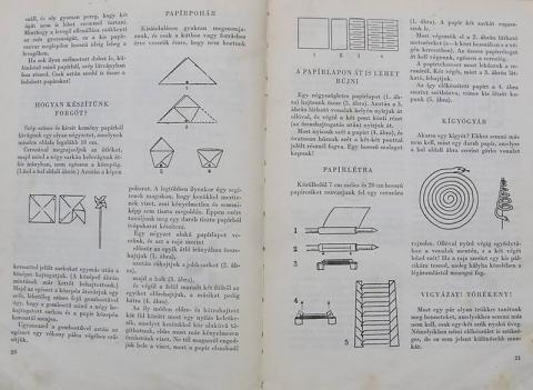 Grätzer József: Sicc. könyvének origamit tartalmazó oldalai