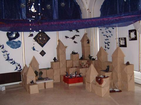 Origami Éjszakák kiállítás részlete