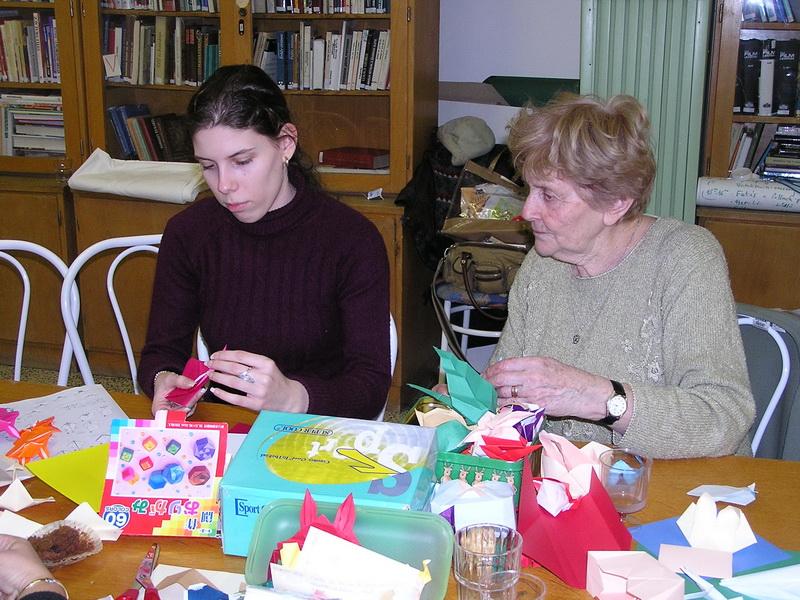 Életképek a 2009-es tavaszi origami találkozóról