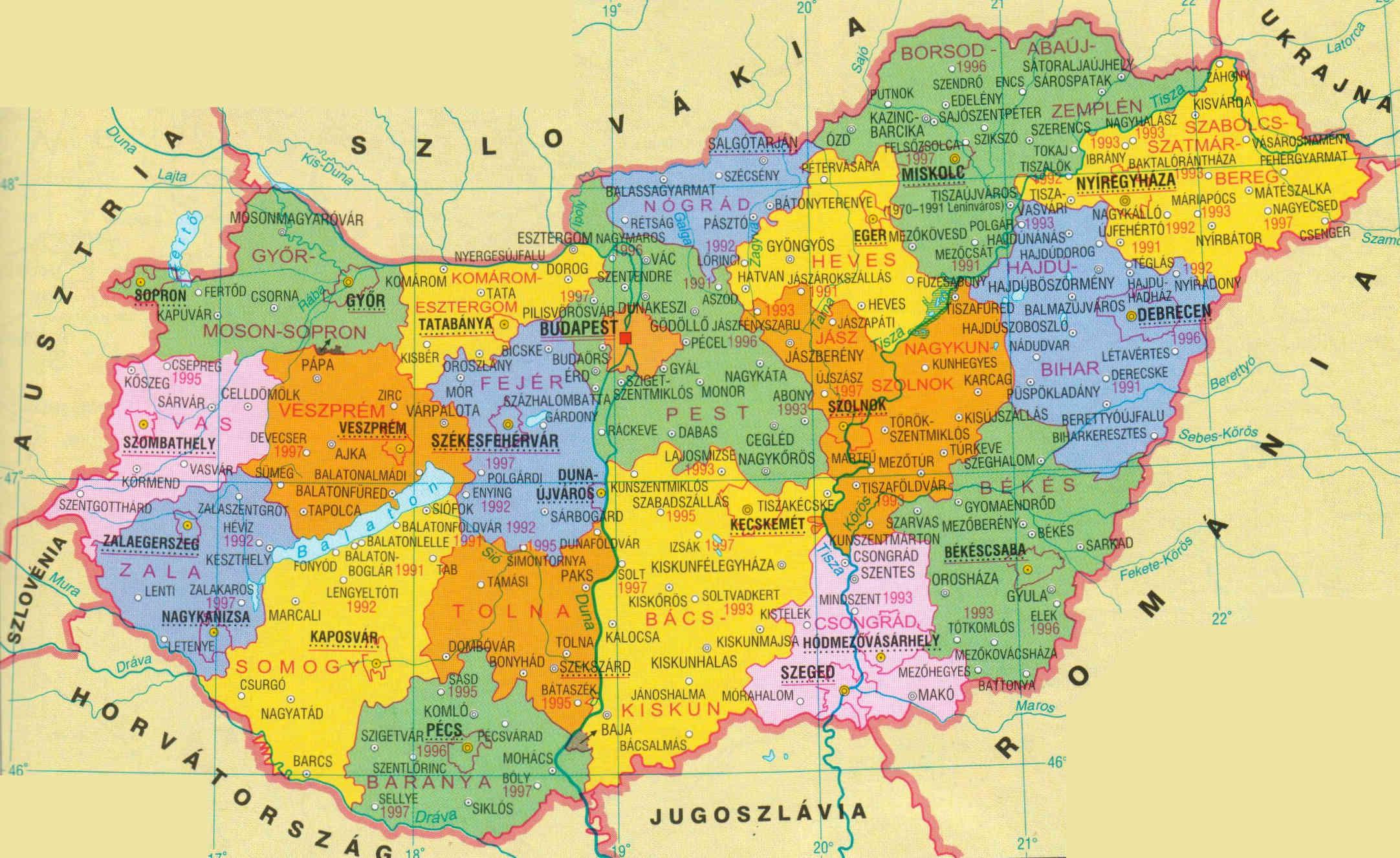 magyarország térkép megyeszékhelyek Térkép kirakó | InterJátékház homoludens.hu magyarország térkép megyeszékhelyek