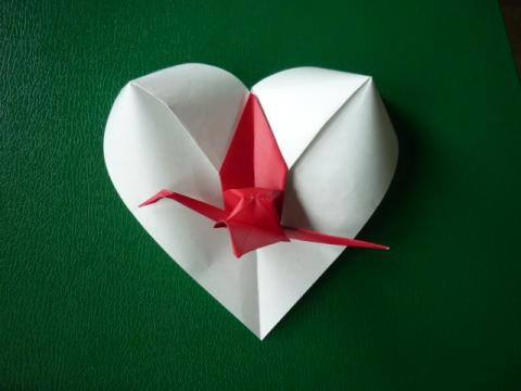 Japán 2011 - Szív daruval